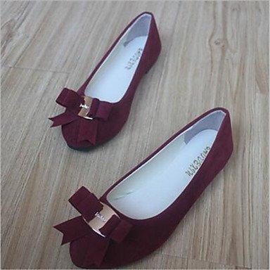 Cómodo y elegante soporte de zapatos de zapatos de mujer talón plano punta redonda Flats Casual más colores availably fucsia