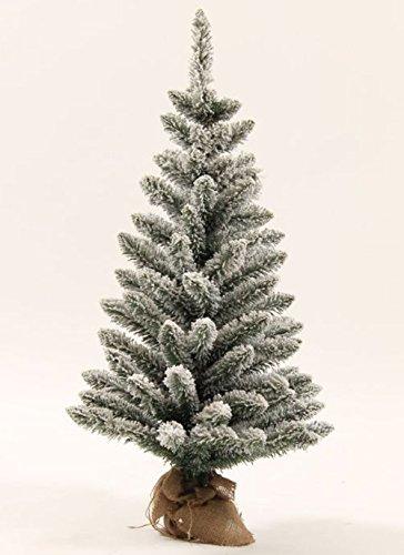 KING OF CHRISTMAS 3 Foot Jr Prince Flock Artificial Christmas Tree