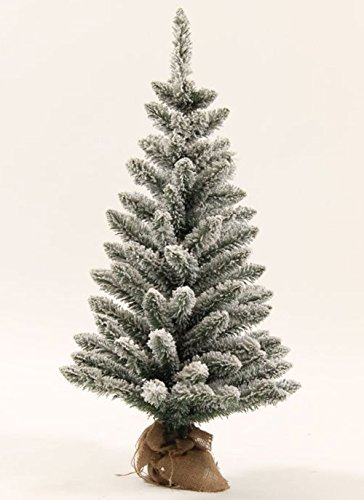 KING OF CHRISTMAS 3 Foot Jr Prince Flock Artificial Christmas Tree (Christmas Tree Artificial Frosted)