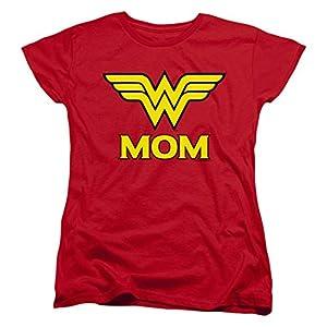 Wonder Woman Wonder Mom DC Comics Women's T Shirt & Stickers