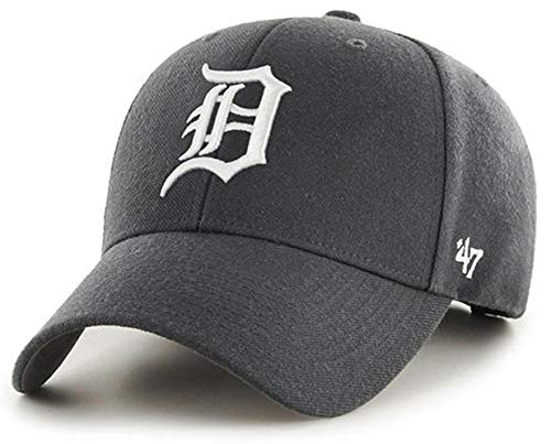 '47 Brand – MLB Detroit Tigers Vintage Graphite/Dark Gray MVP Size: OSFM Adjustable Dad Hat