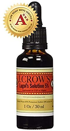 J.CROWS Lugols Solution of Iodine 5%: Amazon.es: Salud y cuidado personal