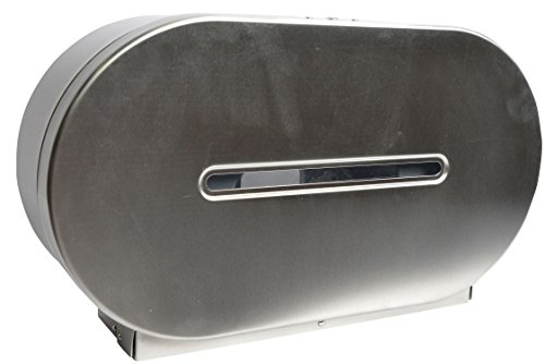 Janico 2513 Toilet Paper Dispenser, Double Roll Tissue Dispenser, Stainless Steel, Silver by Janico (Image #1)