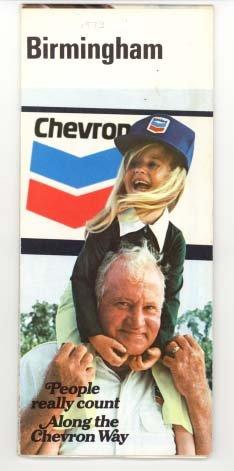 Chevron Road Map (Standard Oil Chevron Road Map Birmingham Alabama 1973)