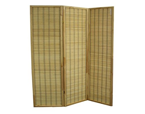 ORE International NYBB-082-3 3-Panel Serenity Room Divider, 70.25-Inch, Rayon