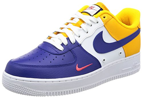 Nike Fc Shoe (Nike Mens Air Force 1 '07 LV8 FC Barcelona Deep Royal Blue Leather Size 10)