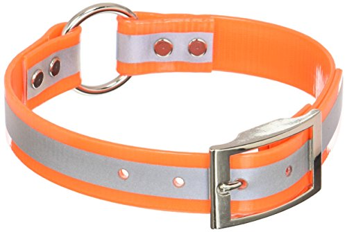 (OmniPet Sunglo Reflective Ring in Center Dog Collar, 1 x 21, Orange)