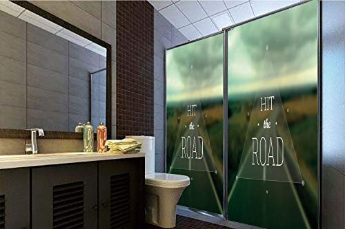 Triangle Highway (Decorative Privacy Window Film, 35.43