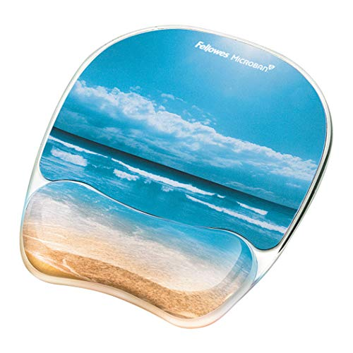 (Fellowes Photo Gel Mouse Pad and Wrist Rest with Microban Protection, Sandy Beach (9179301))