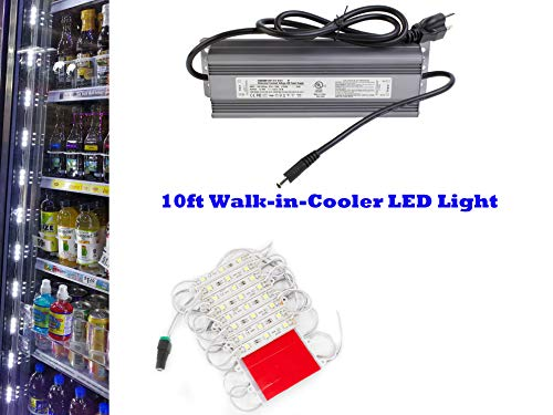 - 10ft Walk in cooler LED light string strip 5050 with 12v Waterproof Heavy Duty Power Supply