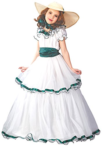 [Kids-Costume Southern Belle Child Lg Halloween Costume - Child Large] (Southern Belle Child Halloween Costume)