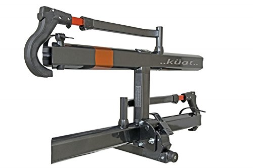 Kuat Racks Sherpa 2.0 – 2″ – 2-Bike Rack – Gray Metallic, Gray Metallic/Orange Anodize