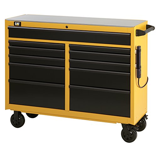 Cat 11-Drawer Ball-Bearing Workstation with Stainless Steel Work Surface, 52