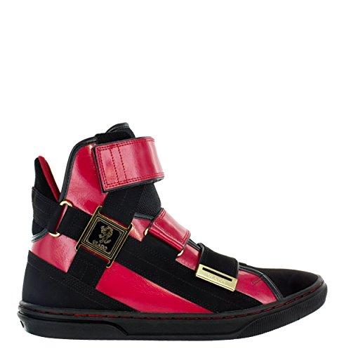 Vlado Chaussures Aristocrat Ii Sneakers Hautes En Cuir Rouge / Noir