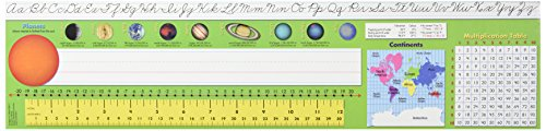 Instructional Fair Intermediate Desk Plates for Traditional Cursive - 20 x 5 inches - Pack of 36 Solar System Ruler
