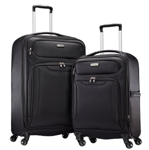 Samsonite Ultralite Extreme 2 Piece Softside Spinner 4 Wheel Luggage Set (Black) by Samsonite