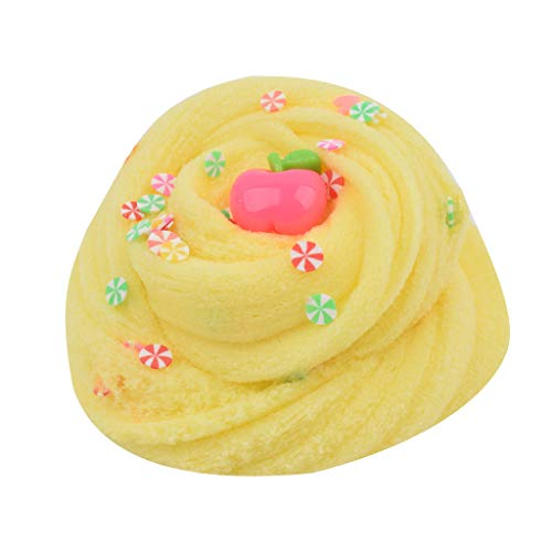 80ML Fruit Slice Clay Could Slime Putty Scented Stress Kids Clay Toy Yellow
