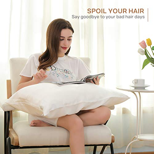 SOLEDI 100% Silk Pillowcase for Hair and Skin, 19 Momme Mulberry Pure Silk on Both Side, Soft, Smooth, and Breathable Silk Pillowcase Take Good Care for Whom You Love (Standard 50x75cm, Gift Package)