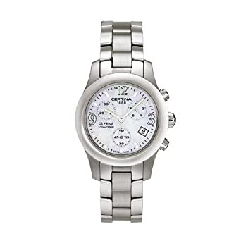 Certina Womens DS Prime 34mm Steel Bracelet & Case Sapphire Crystal Quartz MOP Dial Watch C538