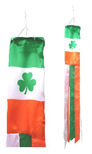 Ireland Shamrock Flag Super 5' Windsock ()