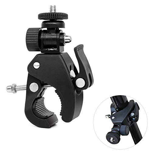 dezirZJjx Bicycle Camera Holder, Universal Rotating 1/4 Screw Bicycle Camera Adapter Mount Holder for Phone GoPro