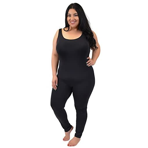 Stretch Is Comfort Teamwear Youth Womens Plus Size Cotton Tank Unitard