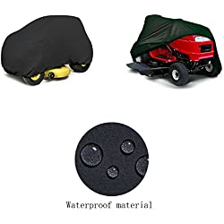 "Mower Cover, Premium Heavy Duty Waterproof Lawn Tractor Cover with Extra Ultraviolet-proof Function and 54"" Universal Fit Size"