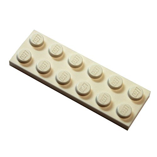 lego building plate white - 3