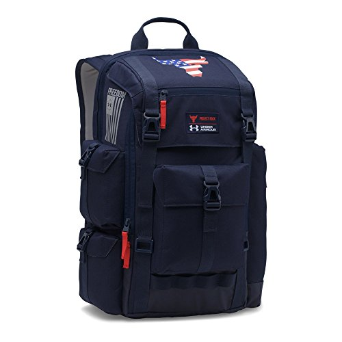 Under Armour Ua X Project Rock Freedom Regiment Backpack Osfa Midnight Navy