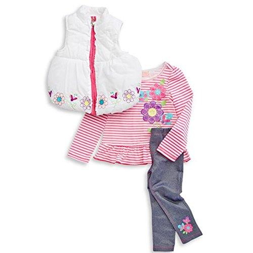 Kids Headquarters Three-Piece Floral Vest Set