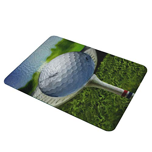 Golf Ball Golfing Painting - Decorative Carving Board Textured Glass Cutting Board