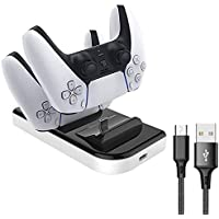 Ps5 Controller Charger, Dual USB Charging Station for Playstation 5, Slim Portable, IC Protection, Fast Charging, Two…
