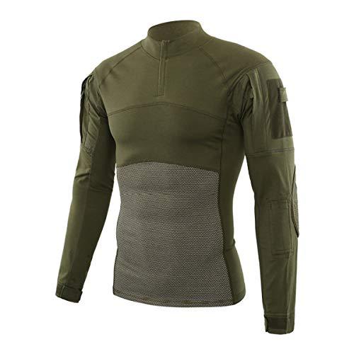 QingCheng Chemise de Combat Homme Camouflage Militaire Tactique Airsoft Tenue T-Shirt Slim Fit à Manches Longues Costume… 1