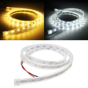 Led Strip Lights - Smd3528 Led Waterproof Silicon Tube Flexible Strip Light Home Party Car Ribbon Lamp Dc12v - Silicone Polymer Pipe Striptease Illumination - 1PCs
