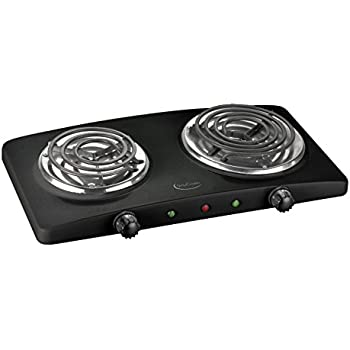 Betty Crocker BC 2591CB Portable Dual Electric Burner, Black