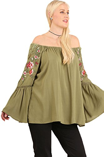Umgee Womens Shoulder Embroidered Details product image