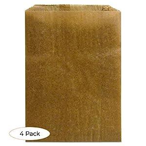 """Hospeco KL Waxed Kraft Feminine Hygiene Liner Bag with Gusset,10.25"""" x 7.5"""" x 3.5"""",(Case of 500)"""