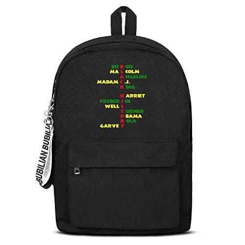 Black History Leaders Men's Premium Women Men Water Resistant Black Canvas School Backpack Travel Backpack
