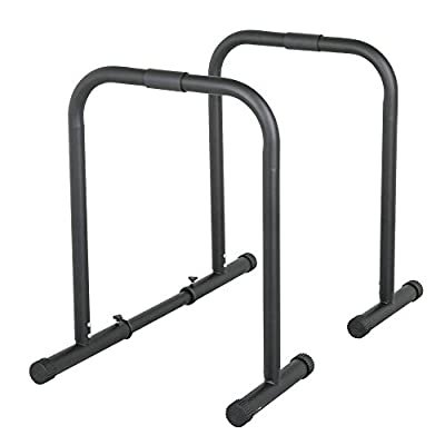 Yaheetech Parallette Dip Station Bars Weight Parallettes Crossfit Fitness Station Stabilizer Dip Stands Home Gyms Workout Equipment