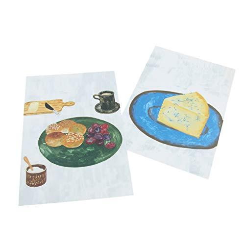 kesoto Decoración De Pared Tarjeta Accesorios De Fotografía Habitación con Diferentes Temas Fruta Desayuno Mesa De Comedor...