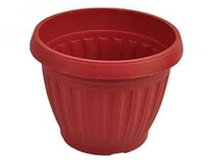 Terracota estilo plástico–Macetero redondo (Juego de 72, [césped y jardín, macetas, jardineras y perchas]