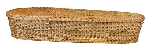 Organic Biodegradable Willow Casket for Green / Natural Burial ()