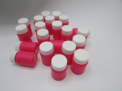 Mini Hot Pink Bubble Blower 12 Pack - Includes Solution and