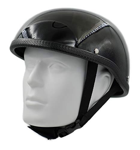 Hot Rides Classic Chopper Biker ATV Scooter Scull Cap Helmet Novelty (Non DOT) For Cruiser Harley OSFM Gloss Black