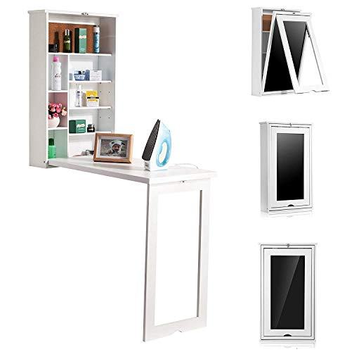 Wooden Life Fold Out Convertible Wall Mount Desk White