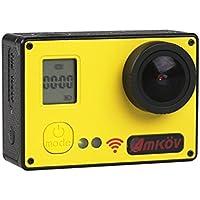 AMKOV AMK7000S Mini Sports Camera 2.0 inch 4K HD Shooting 20 MP Support Wifi Control 170°View Angle Digital Camera