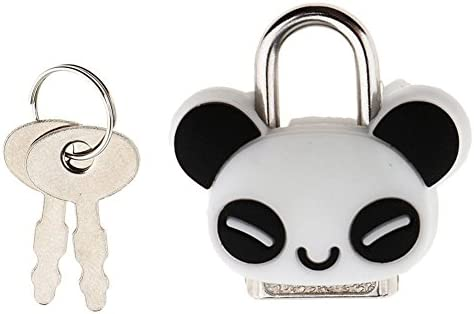 JVSISM セーフティロックミニ南京錠かわいいカートゥーン動物ロックとキー - パンダ