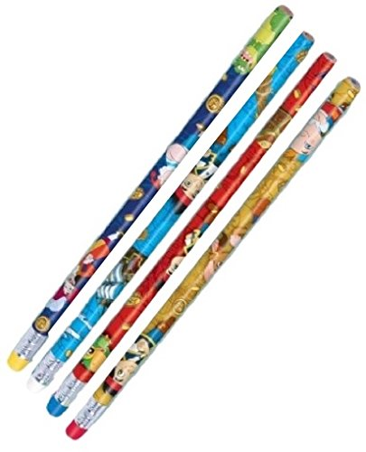 Disney Jake And The Never Land Pirates Birthday Party Printed Pencils Favour, Pack Of 12, Multi, 7 3/8