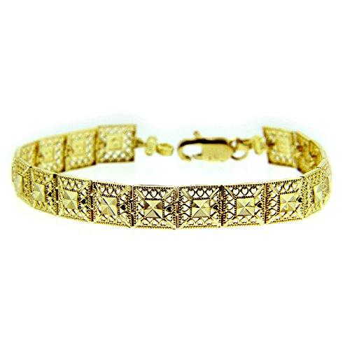 Petits Merveilles D'amour - 10 ct Or Jaune Bracelet - Alia Coeur Bracelet