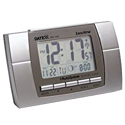 Datexx Radio Control LCD Alarm Clock with Calendar and Temperature